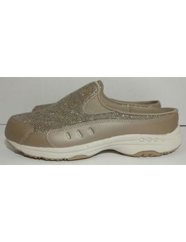 Easy Spirit Womens Traveltime Leather Athletic Mules Size 7.5 W Wide Brown Gold&Nbsp; by Easy Spirit