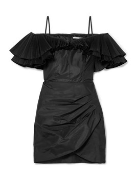 Ruffled Silk Blend Taffeta Mini Dress by Alessandra Rich