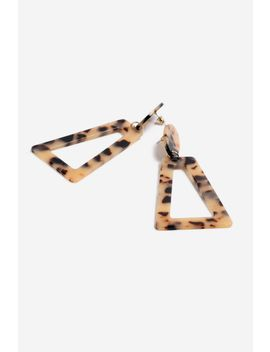 **Tortoiseshell Rectangle Drops by Topshop