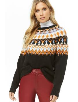 Fair Isle Brushed Knit Sweater by Forever 21