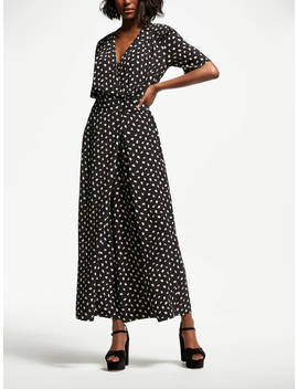 Somerset By Alice Temperley Acorn Print Jumpsuit, Black by Somerset By Alice Temperley