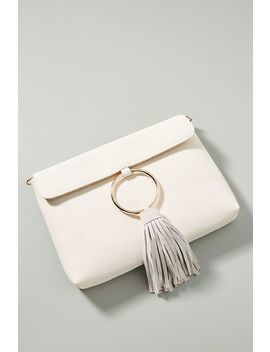 Sabina Faux Leather Tasseled Ring Clutch by Anthropologie
