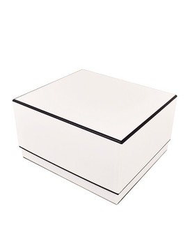 Cream With Black Edge Large Square Box   Sugar Paper™ by Sugar Paper