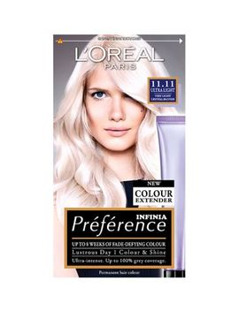 Preference 11.11 Ultra Light Crystal Blonde Permanent Hair Dye by L'oreal