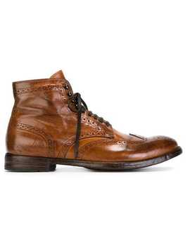 Distressed Brogue Boots by Officine Creative