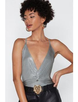 Knot This Time Metallic Bodysuit by Nasty Gal