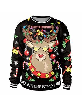 Colorful House Unisex's Ugly Christmas Jumper Sweater, 3 D Digital Print Sweatshirt by Colorful House