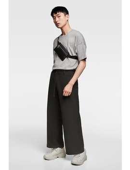 LuŹne Szerokie Spodnie  Casual Spodnie MĘŻczyzna by Zara