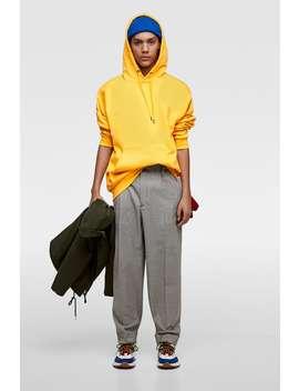 Spodnie W PepitkĘ Z Zaszewkami  Casual Spodnie MĘŻczyzna by Zara