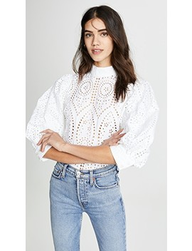 Broderie Anglaise Blouse by Ganni