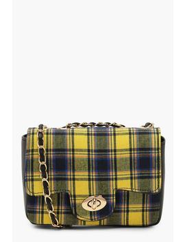 Tartan Check Cross Body Tartan Check Cross Body by Boohoo
