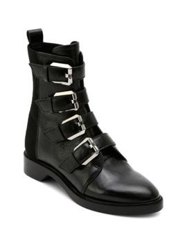 Women's Gaven Buckled Leather Combat Booties by Dolce Vita