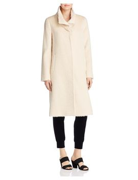 Textured High Collar Coat by Eileen Fisher