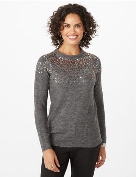 Sequined Sweater by Dressbarn