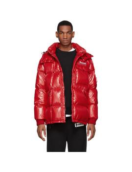 7 Moncler Fragment Hiroshi Fujiwara Red Anthem Jacket by Moncler Genius