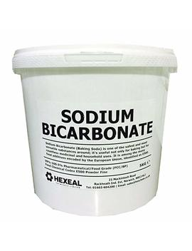Sodium Bicarbonate Of Soda   1, 2.5, 5, 10, 15, 20, 25 Kg Buckets & Bags   100 Percents Fcc Food Grade   Bath, Baking, Cleaning   Hexeal® Brand (10 Kg, Bucket) by Hexeal