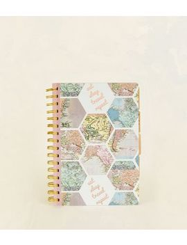 Multicoloured Hexagonal Maps Travel Journal by New Look