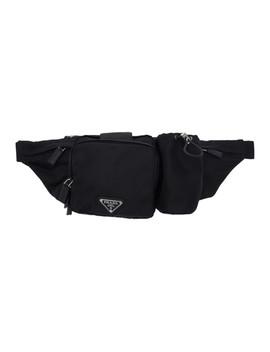 Black Technical Belt Bag by Prada