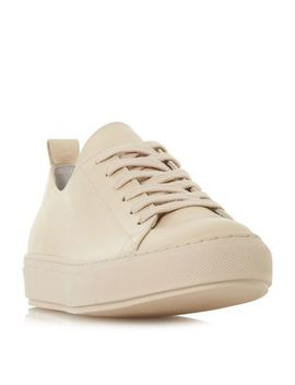 Dune Black   Natural Leather 'enjoye' Casual Trainers by Dune Black