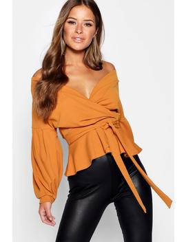 Petite Off The Shoulder Blouse by Boohoo