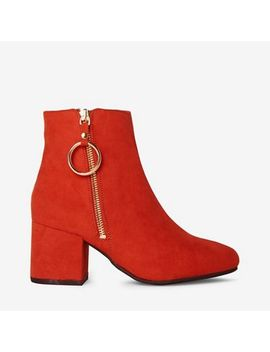 Dorothy Perkins   Wide Fit Red Amelie Boots by Dorothy Perkins