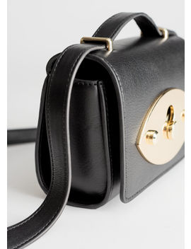Push Lock Leather Crossbody Bag by & Other Stories
