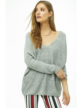 Crisscross Ribbed Sweater by Forever 21