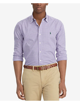 Men's Gingham Classic Fit Shirt by Polo Ralph Lauren