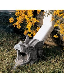 Design Toscano Roland The Gargoyle 10.5 In Stone Resin Downspout Extension by Lowe's