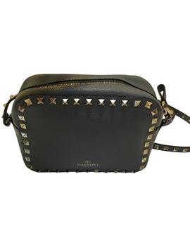 Garavani 'rockstud' Grey Calfskin Leather Cross Body Bag by Valentino