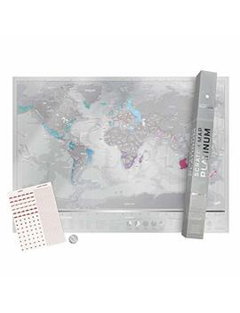 Scratch Off Map World Poster, Scratch Map Platinum Premium Travel Map by Luckies Of London