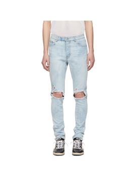 Blue Trashed T Rex Jeans by Stolen Girlfriends Club