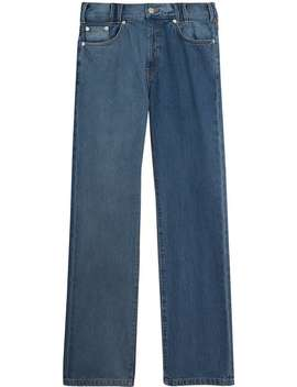 Straight Fit Two Tone Jeans by Burberry