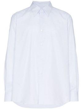 Square Print And Plastic Pocket Cotton Shirt by Raf Simons
