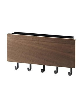 Yamazaki Home Rin Magnetic Key Rack With Tray, Brown by Yamazaki Home