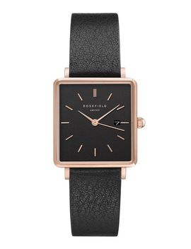 **The Boxy Black Mesh Watch By Rosefield by Topshop