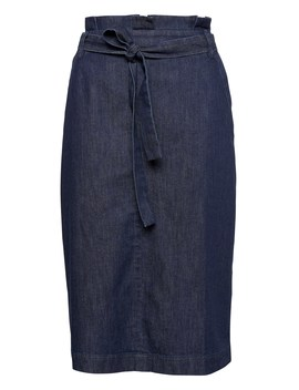 Denim Belted Pencil Skirt by Banana Repbulic