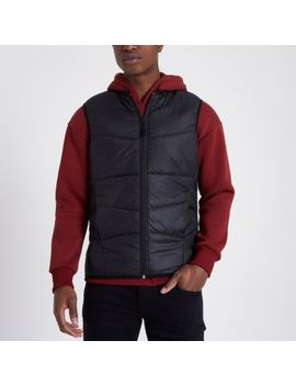 Only & Sons Black Padded Gilet by River Island
