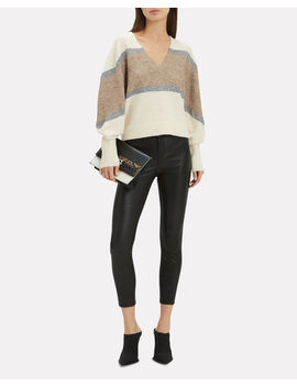 Miley Lurex Stripe Sweater by Veronica Beard