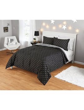 Your Zone Gold Hearts Comforter Set by Your Zone