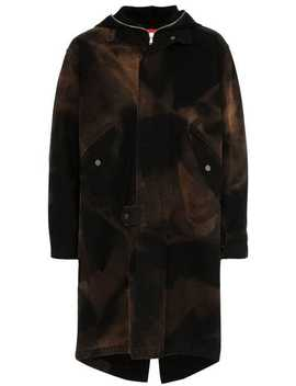 Hooded Bleach Cotton Canvas Fishtail Parka by 424