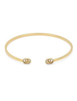Gucci Double G 18ct Gold Diamond Bangle by Beaverbrooks