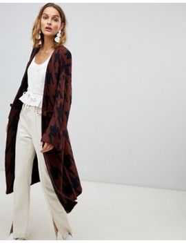 Moon River Houndstooth Oversized Cardigan by Moon River