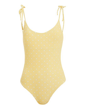 Ginny Polka Dot Tie Shoulder One Piece Swimsuit by Onia
