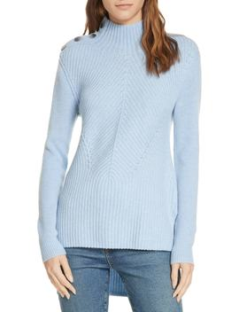 Rama Merino Wool & Cashmere High/Low Sweater by Veronica Beard