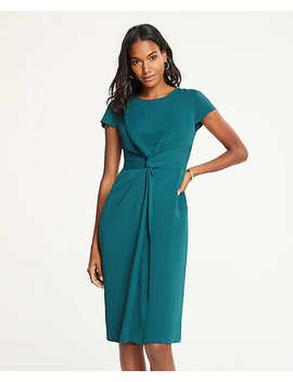 Petite Knotted Sheath Dress by Ann Taylor