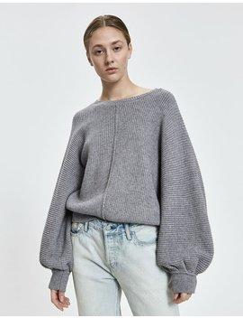 Jenn Puff Sleeve Sweater In Grey by Stelen