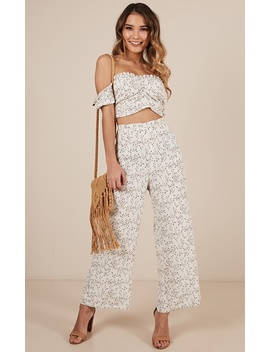 Reckless Abandon Two Piece Set In White Floral by Showpo Fashion