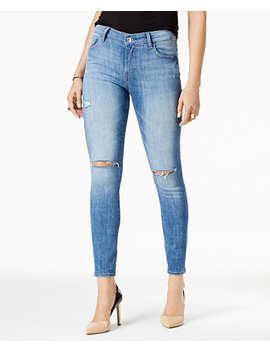 Kristen Ripped Ankle Skinny Jeans, Created For Macy's by M1858