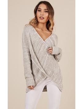 Keep Me Cosy Knit In Grey Marle by Showpo Fashion